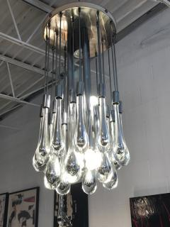 Paolo Venini Mercury Glass Chandelier - 1046644