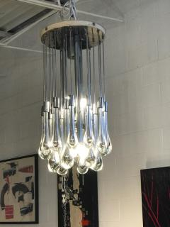 Paolo Venini Mercury Glass Chandelier - 1046646