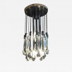 Paolo Venini Mercury Glass Chandelier - 1225909