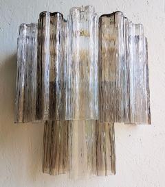 Paolo Venini Pair of Venini Tronchi Murano Glass Sconces Mid Century Modern - 644494
