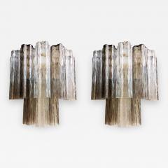 Paolo Venini Pair of Venini Tronchi Murano Glass Sconces Mid Century Modern - 645029