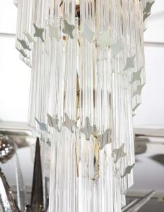 Paolo Venini Vintage 1970s Quadriedri Venini Glass Spiral Chandelier - 1832405