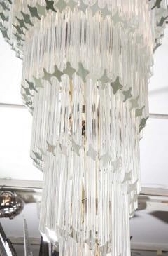Paolo Venini Vintage 1970s Quadriedri Venini Glass Spiral Chandelier - 1832407