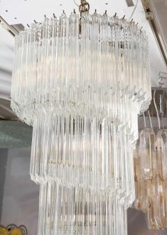 Paolo Venini Vintage 1970s Quadriedri Venini Glass Spiral Chandelier - 1832415