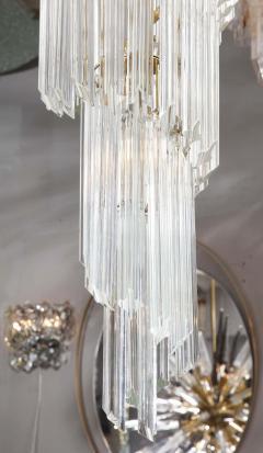 Paolo Venini Vintage 1970s Quadriedri Venini Glass Spiral Chandelier - 1832417