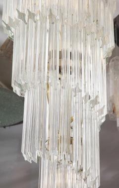 Paolo Venini Vintage 1970s Quadriedri Venini Glass Spiral Chandelier - 1832418