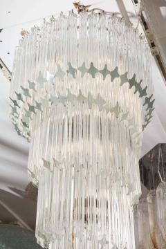 Paolo Venini Vintage 1970s Quadriedri Venini Glass Spiral Chandelier - 1832419