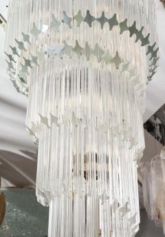 Paolo Venini Vintage 1970s Quadriedri Venini Glass Spiral Chandelier - 1832430