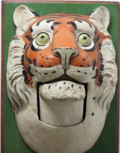 Paper Mache circus tiger wall mask 1890 Germany - 1518227