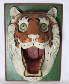 Paper Mache circus tiger wall mask 1890 Germany - 1518228