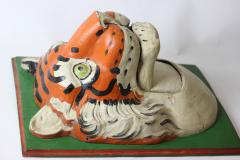 Paper Mache circus tiger wall mask 1890 Germany - 1518230