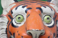Paper Mache circus tiger wall mask 1890 Germany - 1518232
