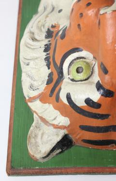 Paper Mache circus tiger wall mask 1890 Germany - 1518237