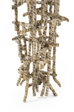 Paper Wrapped Wire Sculpture Primitive Cathedral by Matteo Naggi - 1210458