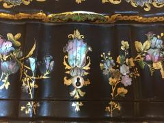 Papier M ch Massive Size Fine Quality 19th Century Sewing Box or Jewelry Box - 1681275