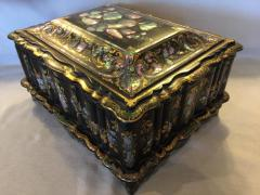 Papier M ch Massive Size Fine Quality 19th Century Sewing Box or Jewelry Box - 1681290