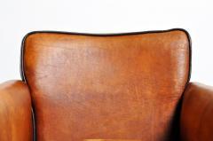 Parisian Brown Leather Armchair - 1194228
