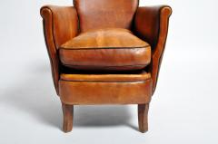 Parisian Brown Leather Armchair - 1194230