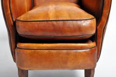 Parisian Brown Leather Armchair - 1194233