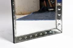 Parisian Mirror with Studded Glass Frame - 1194276