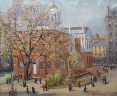 Parker Newton View of the Old State House in Hartford Connecticut circa 1920 - 1161829