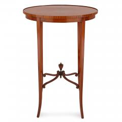 Parquetry circular side table - 1443575