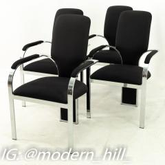 Pastel Furniture Mid Century Chrome Upholstered Dining Chairs Set of 4 - 1870218
