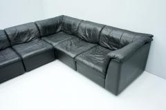 Patchwork Sectional in Black Leather Sofa 5 Elements 1970s - 1873839