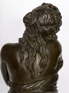 Patinated bronze antique French bust of a lady after Houdon - 1516282