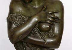 Patinated bronze antique French bust of a lady after Houdon - 1516284