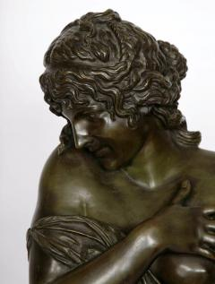 Patinated bronze antique French bust of a lady after Houdon - 1516285