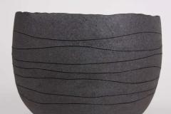 Patricia Vieljeux Contemporary Gray Stoneware Bowl Hand Engraved by Artist Patricia Vieljeux - 1598943