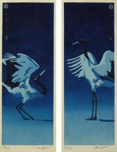 Paul Binnie Paul Binnie Woodblock Dyptych Getsumei no Mai or Moonlight dance 2014 - 325970