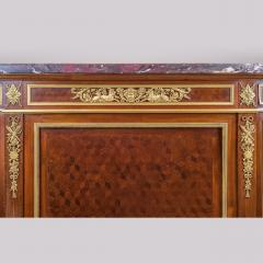 Paul Charles Sormani Gilt Bronze Mounted Parquetry Meuble d Appui by Sormani - 1990655