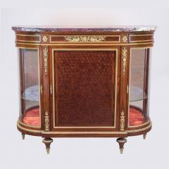 Paul Charles Sormani Gilt Bronze Mounted Parquetry Meuble d Appui by Sormani - 1990656