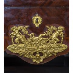 Paul Charles Sormani Pair of Gilt Bronze Mounted Bas Satin Tulipwood and Amaranth Commode - 1990567