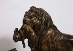 Paul Edouard Delabriere Paul Edouard Delabriere French 1829 1923 Large Bronze Sculpture of A Lion - 2137785