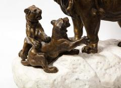 Paul Edouard Delabriere Paul Edouard Delabriere French 1829 1923 Large Bronze Sculpture of A Lion - 2137789