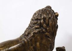 Paul Edouard Delabriere Paul Edouard Delabriere French 1829 1923 Large Bronze Sculpture of A Lion - 2137790