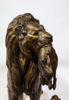 Paul Edouard Delabriere Paul Edouard Delabriere French 1829 1923 Large Bronze Sculpture of A Lion - 2137793
