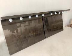 Paul Evans A Pair of Cityscape Headboard with Lights Paul Evans for Directional - 992058