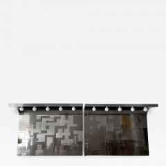 Paul Evans A Pair of Cityscape Headboard with Lights Paul Evans for Directional - 992182