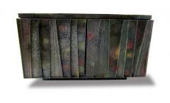 Paul Evans A Rare American Modern Steel Front and Vermont Slate 2 Door Credenza Paul Evans - 1306302