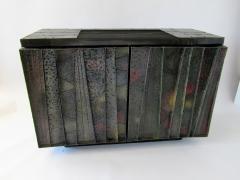Paul Evans A Rare American Modern Steel Front and Vermont Slate 2 Door Credenza Paul Evans - 1306304