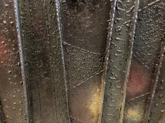 Paul Evans A Rare American Modern Steel Front and Vermont Slate 2 Door Credenza Paul Evans - 1306307