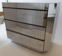 Paul Evans A Rare Pair of American Modern Polished Chrome Citiscape Chests Paul Evans - 1205086