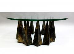 Paul Evans A Rare Sculpted Pyramid Coffee Table by Paul Evans for Directional - 478362