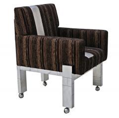 Paul Evans Cityscape Fabric Desk Arm Side Chair with Castors by Paul Evans Inc - 1804071