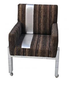 Paul Evans Cityscape Fabric Desk Arm Side Chair with Castors by Paul Evans Inc - 1804073