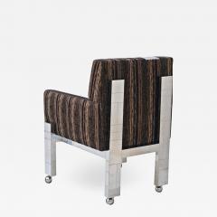 Paul Evans Cityscape Fabric Desk Arm Side Chair with Castors by Paul Evans Inc - 1807416